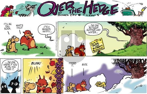 Over the Hedge on Sunday September 16, 2018 Comic Strip