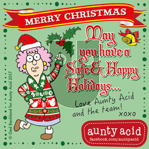 Aunty Acid on Sunday December 24, 2017 Comic Strip
