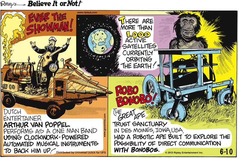 Ripley's Believe It or Not Comic Strip for June 10, 2012