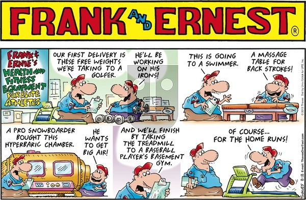 Frank and Ernest on Sunday August 18, 2013 Comic Strip