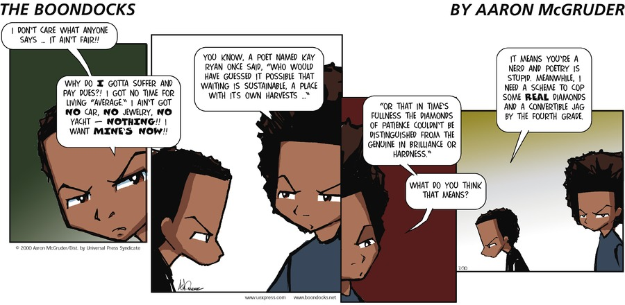 The Boondocks Comic Strip for October 11, 2015