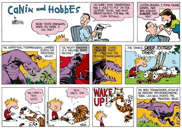 Calvin and Hobbes - Sunday October 12, 1986 Comic Strip