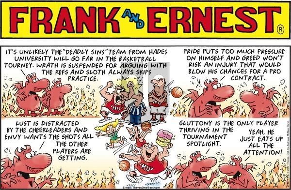 Frank and Ernest on Sunday March 19, 2017 Comic Strip
