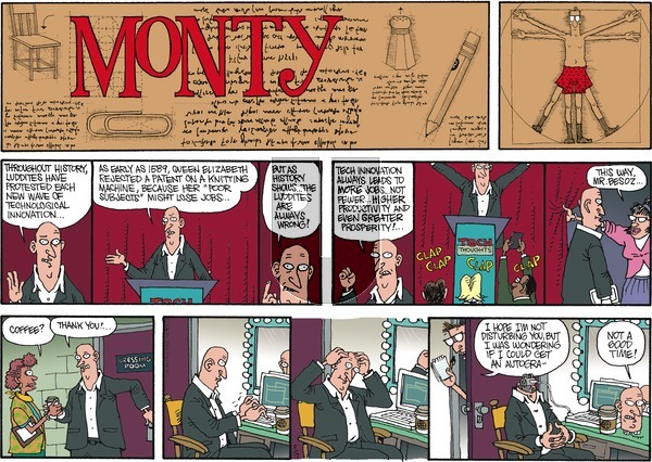 Monty on Sunday August 17, 2014 Comic Strip