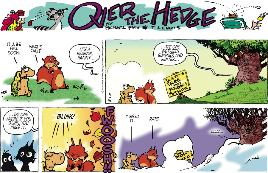 Over the Hedge Comic Strip for September 16, 2018