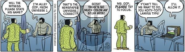Alley Oop - Thursday December 12, 2019 Comic Strip