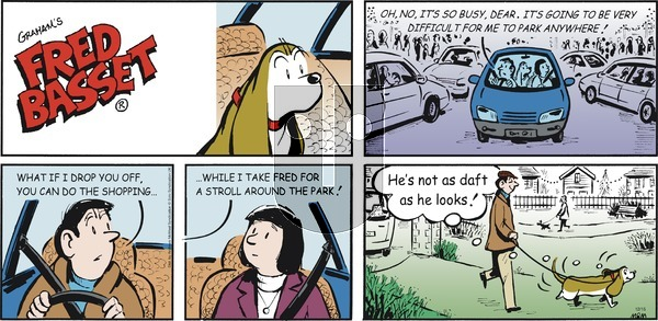 Fred Basset on Sunday December 15, 2019 Comic Strip
