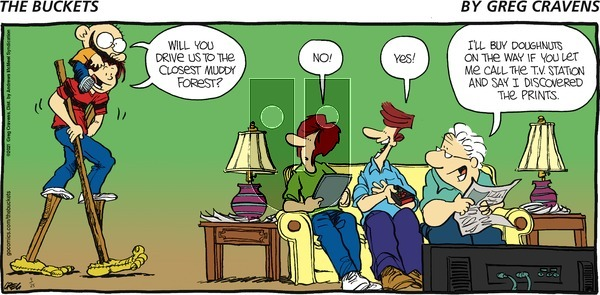 The Buckets on Sunday April 25, 2021 Comic Strip