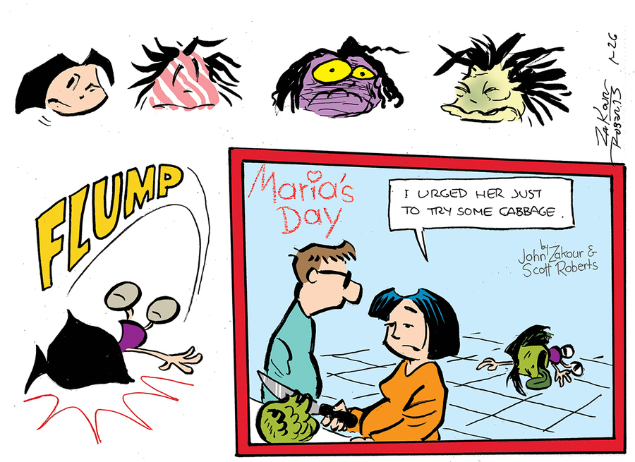 Maria's Day Comic Strip for January 24, 2021