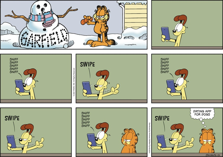 Garfield by Jim Davis on Sun, 31 Jan 2021