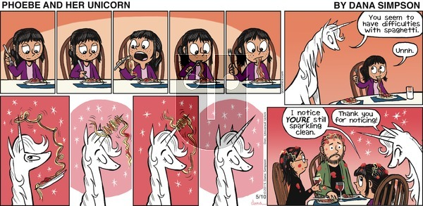 Phoebe and Her Unicorn on Sunday May 10, 2015 Comic Strip