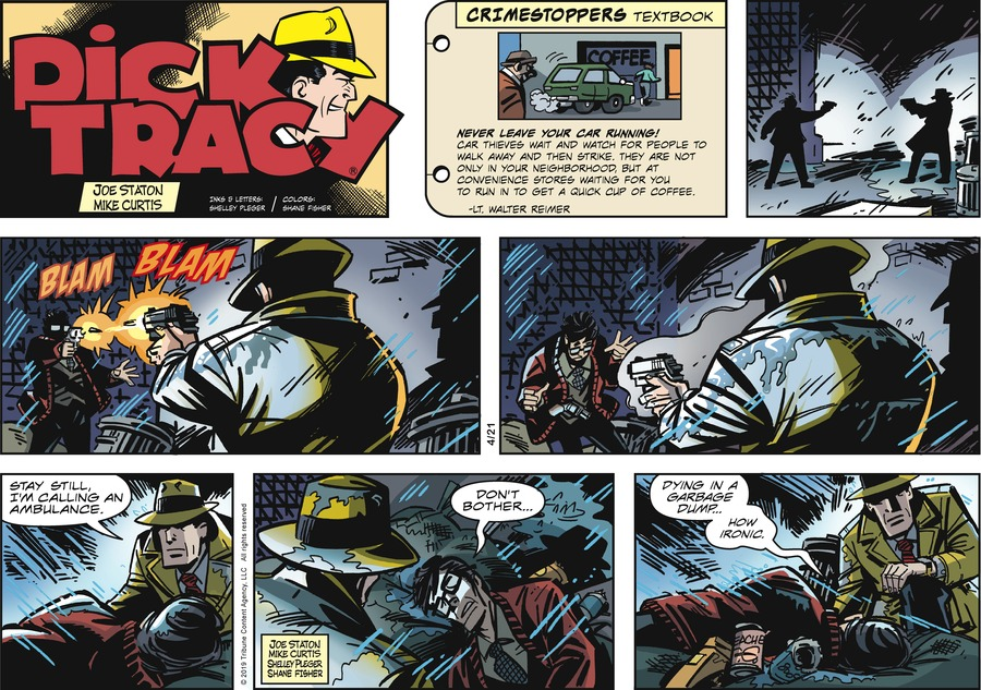 Dick Tracy Comic Strip for April 21, 2019