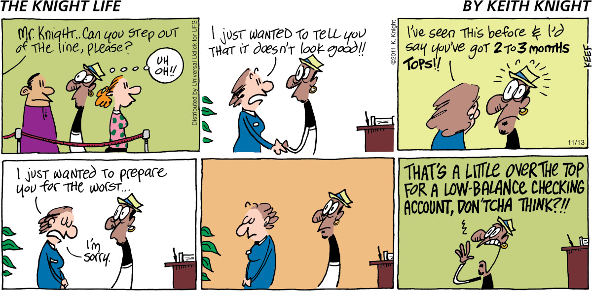 The Knight Life Comic Strip for November 13, 2011