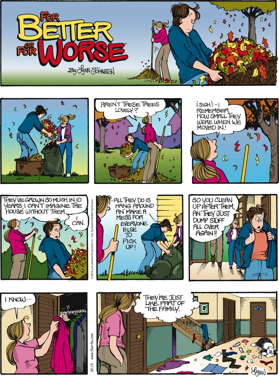 For Better or For Worse Comic Strip for October 13, 2019