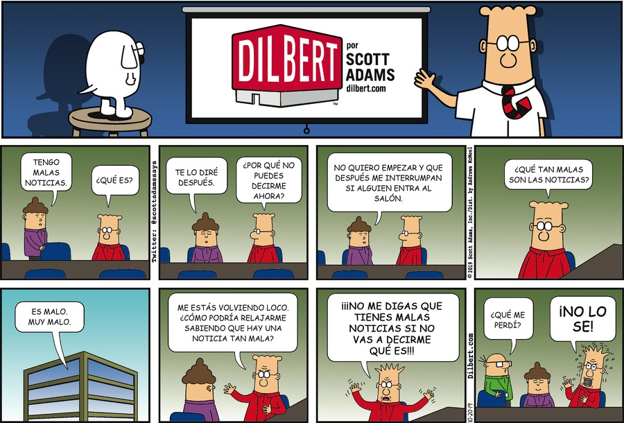 Dilbert en Español Comic Strip for October 20, 2019