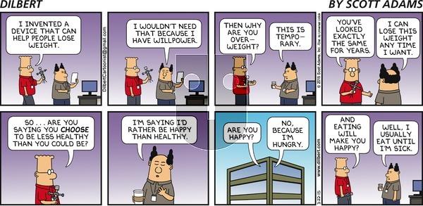 Dilbert on Sunday March 22, 2015 Comic Strip