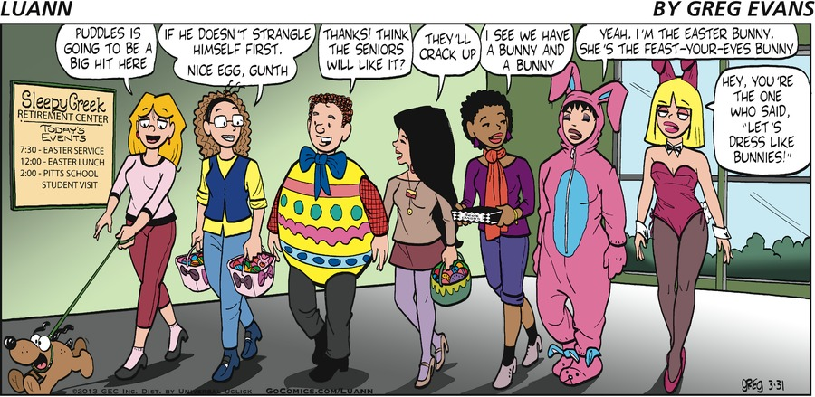 "Luann: ""Puddles is going to be a big hit here""