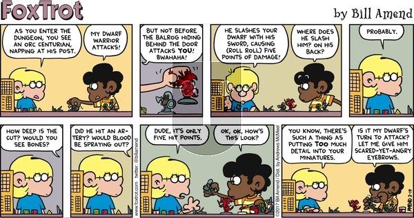 FoxTrot on Sunday February 19, 2017 Comic Strip