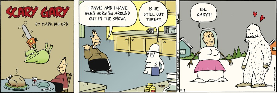 Scary Gary for Feb 3, 2013 Comic Strip