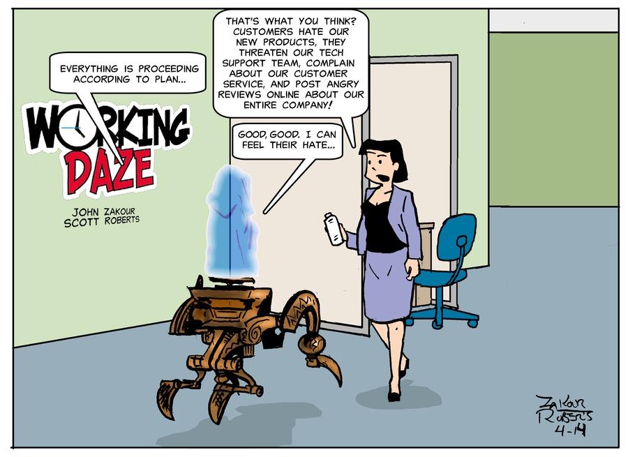 Working Daze Comic Strip for April 14, 2019
