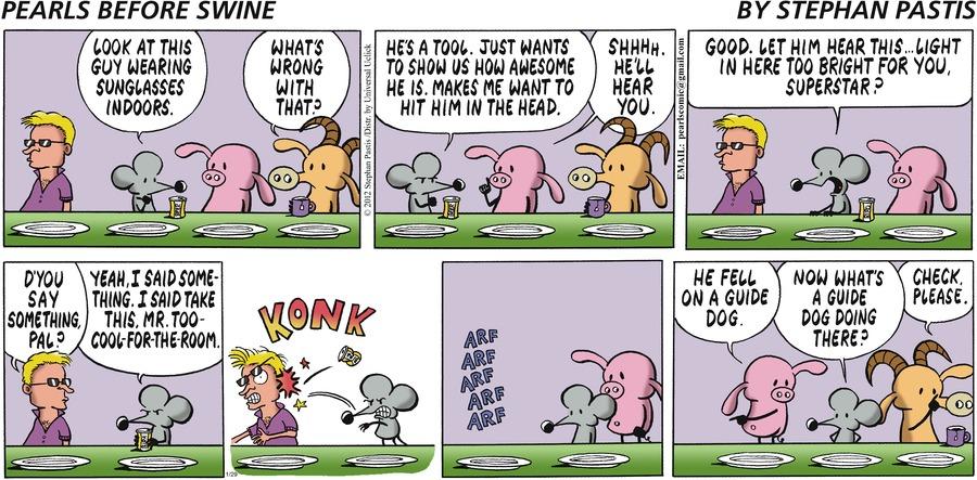 Pearls Before Swine Comic Strip for January 29, 2012