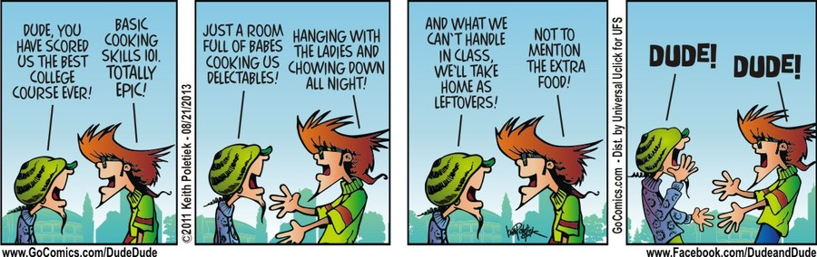 Dude and Dude for Aug 21, 2013 Comic Strip