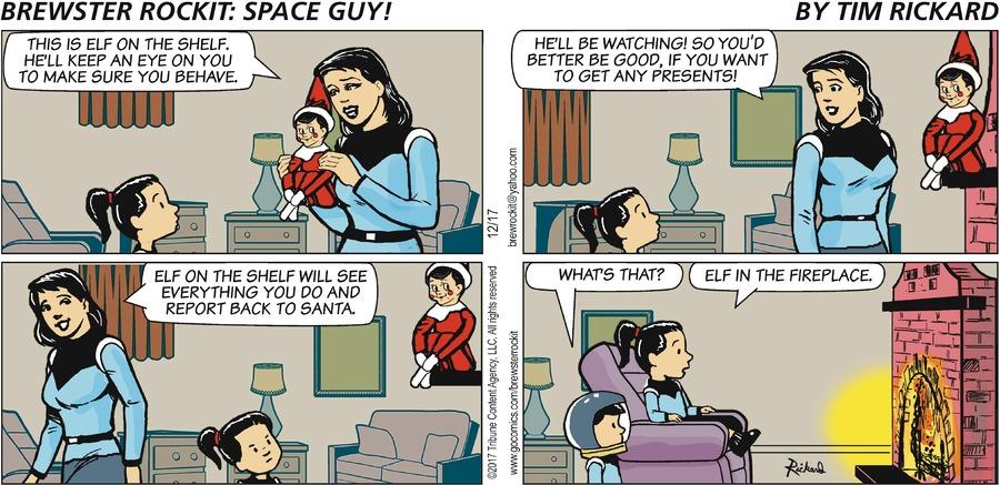 Brewster Rockit for Dec 17, 2017 Comic Strip