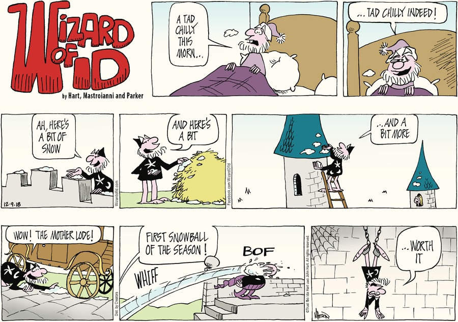 Wizard of Id Comic Strip for December 09, 2018