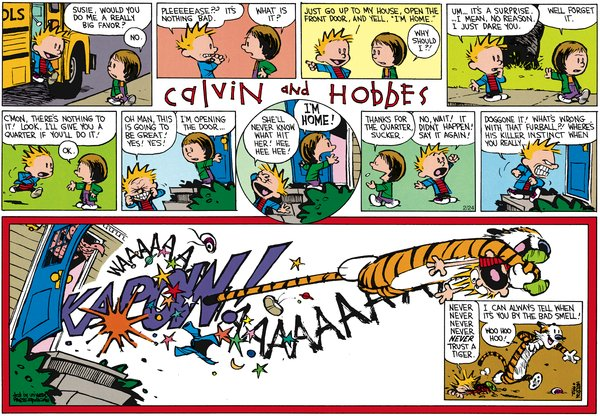 Calvin and Hobbes