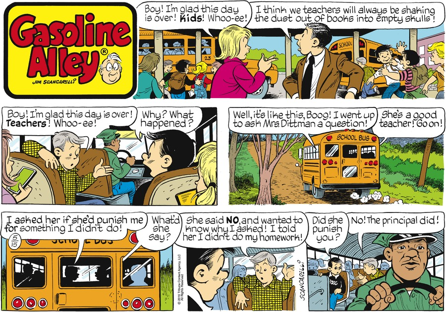 Gasoline Alley Comic Strip for May 15, 2016