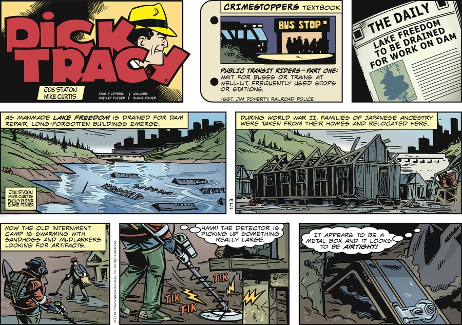 Dick Tracy Comic Strip for January 13, 2013