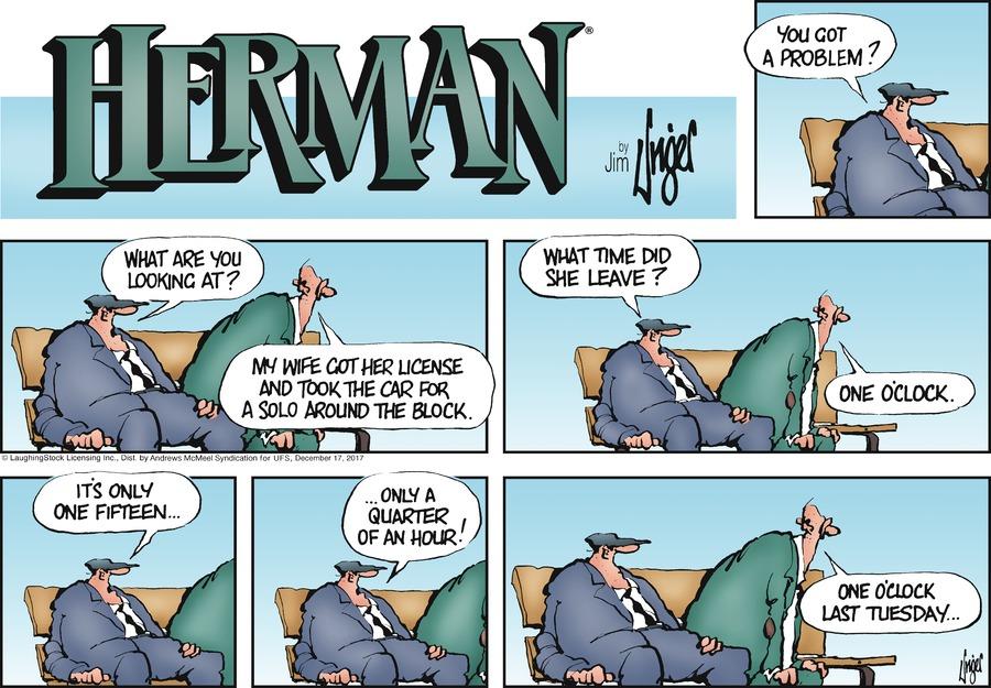 Herman for Dec 17, 2017 Comic Strip
