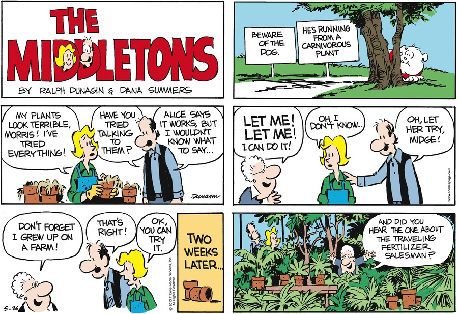 The Middletons for May 26, 2013 Comic Strip