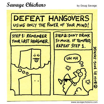 Defeat Hangovers using only the power of your mind! 