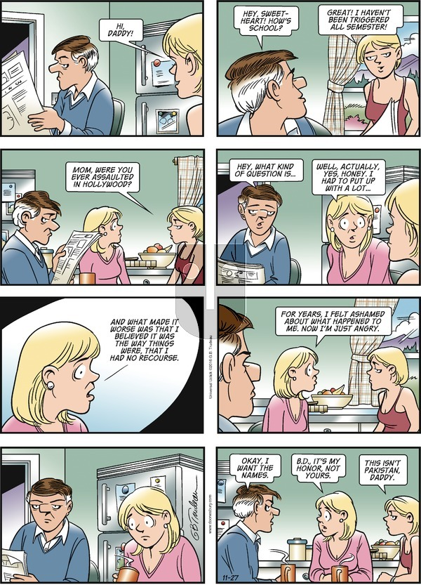 Doonesbury on Sunday November 27, 2016 Comic Strip