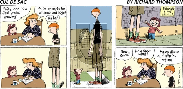 Cul de Sac on Sunday April 7, 2019 Comic Strip