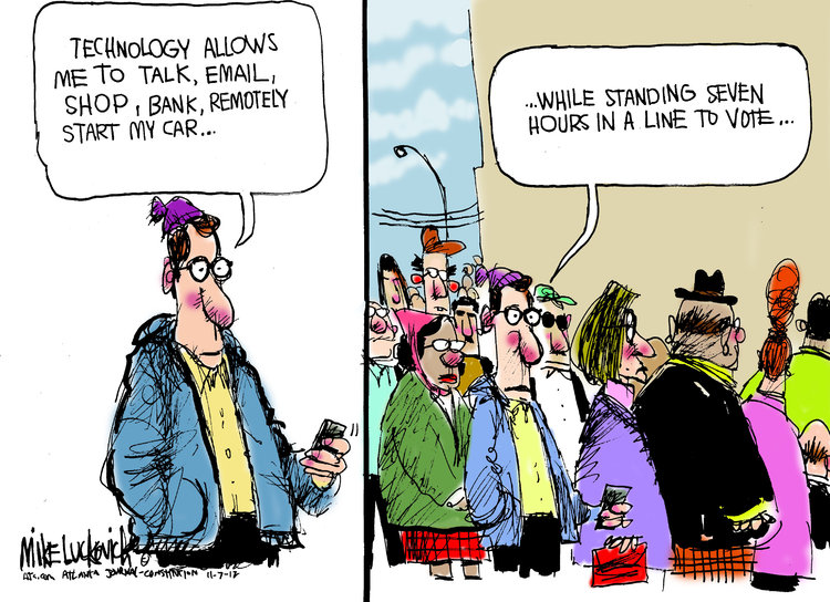 Mike Luckovich for Nov 7, 2012 Comic Strip