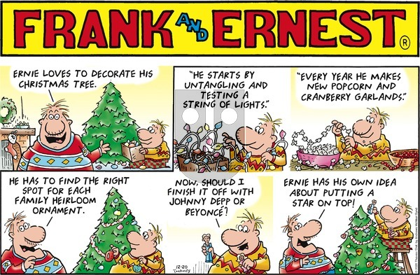 Frank and Ernest on Sunday December 20, 2020 Comic Strip