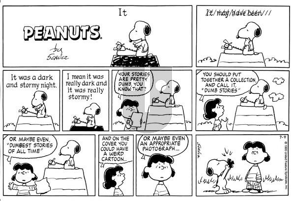 Peanuts on Sunday July 9, 1995 Comic Strip