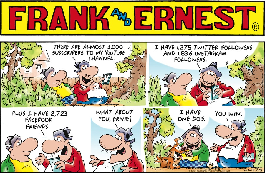 Frank and Ernest Comic Strip for October 21, 2018