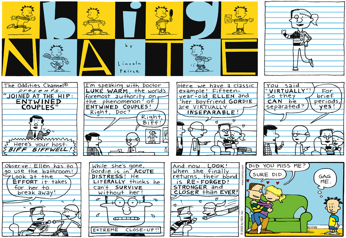 Big Nate Comic Strip for August 10, 2003
