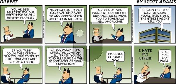 Dilbert on Sunday January 1, 2012 Comic Strip