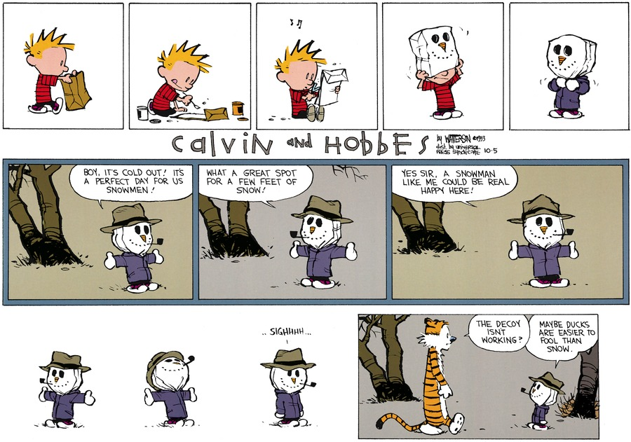 Calvin and Hobbes for Nov 21, 1993 Comic Strip