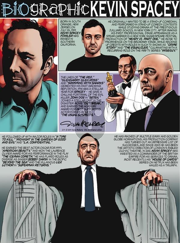 Biographic on Sunday February 9, 2014 Comic Strip