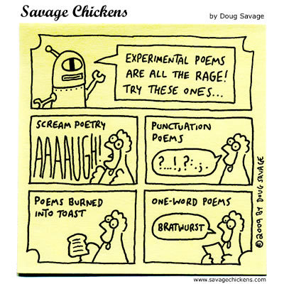 Savage Chickens for Dec 26, 2013 Comic Strip
