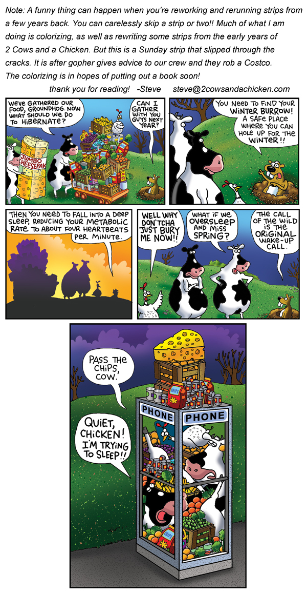 2 Cows and a Chicken for Feb 15, 2013 Comic Strip