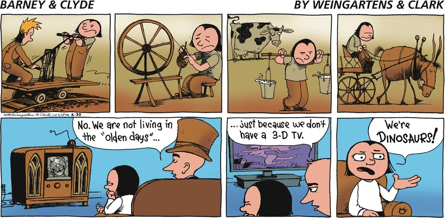 Barney & Clyde Comic Strip for June 30, 2013