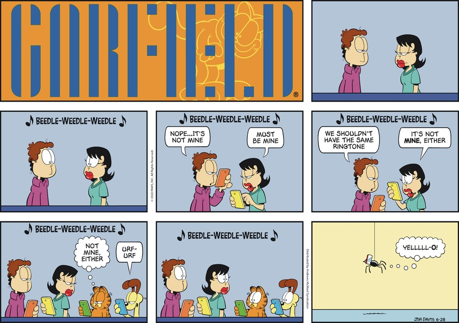 Garfield Comic Strip for June 28, 2020