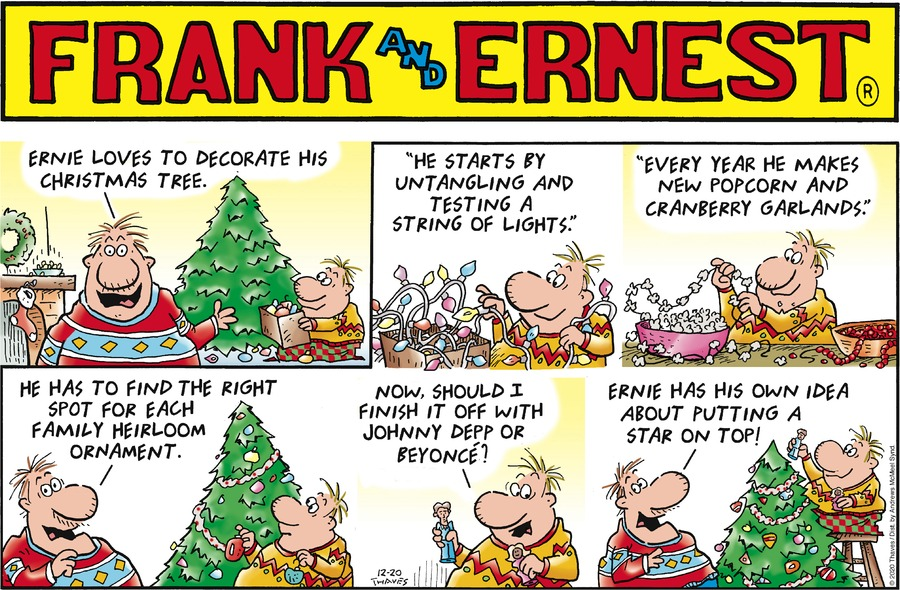 Frank and Ernest Comic Strip for December 20, 2020