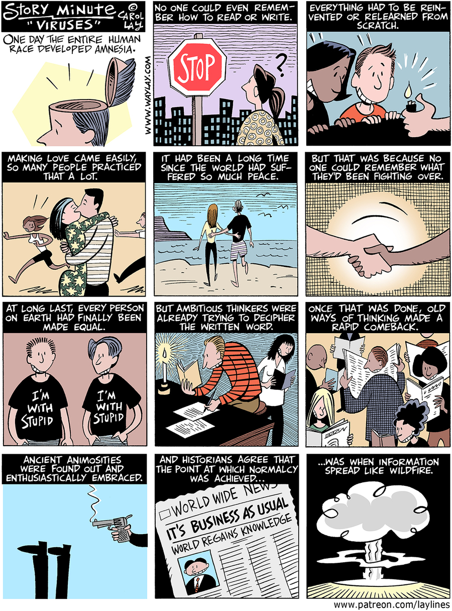 Lay Lines Comic Strip for November 28, 2016